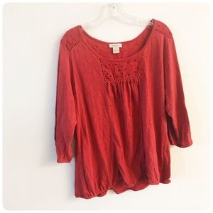 Lucky Brand coral top 1X